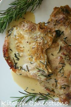 Honey, Mustard and Rosemary Baked Pork Chops