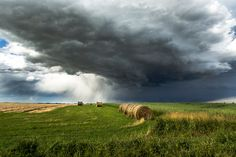 Storm passing over the praries