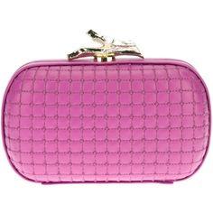 Diane Von Furstenberg Quilted Box Clutch ($366) ❤ liked on Polyvore