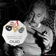 A special #anniversary for the science world falls in these days: in 1915 Albert #Einstein presented the field equations of general relativity. With Quid you can celebrate each special date with #personalized #jewels.