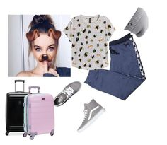 """""""Goodbye EAH, Hello Paris -Rosabella"""" by we-are-all-anons ❤ liked on Polyvore featuring Victoria's Secret, H&M, Vans, The North Face, Victorinox Swiss Army and Rockland Luggage"""