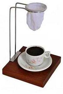 Mini Coador De Café Suporte Em Aço Inox R$