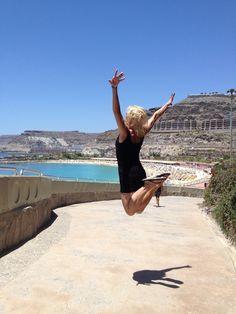 Jump at the beach