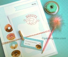 free printable donut stationary