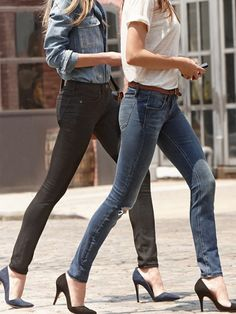 how to make your legs look longer: 7 Ways to Make Your Legs Look Longer Instantly via @WhoWhatWear