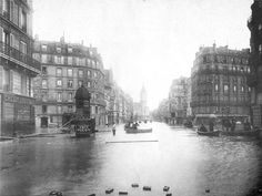 'In late January 1910, following months of high rainfall, the Seine River flooded the French capital when water pushed upwards from overflowing sewers and subway tunnels and seeped into basements through fully saturated soil.'