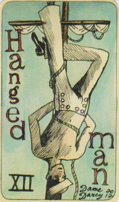 Dame Darcy Mermaid Tarot - The Hanged Man. Major Arcana. tarot cards. divination. fortune telling. oracle. Get her beautiful cards at her DameDarcy shop on Etsy!