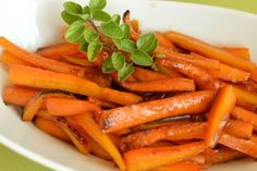 Maple glazed carrots are gorgeous for Holiday dinners!