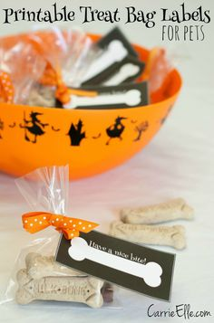 Halloween Treats for Pets – Free Printable Treat Bag Labels! #TrickOrTreatEm #CollectiveBias #Shop