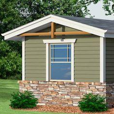 Craftsman Exterior Window Trim photoshop redo: craftsman makeover for a no-frills ranch