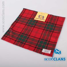 Maxwell Tartan Pocket Square. Free worldwide shipping available