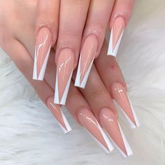 Classic White French Coffin Nails ❤ Perfect Coffin Acrylic Nails Designs To Sport This Season ❤ See more ideas on our blog!! #naildesignsjournal #nails #nailart #naildesigns #coffinnails #ballerinanails #coffinacrylicnails Cute Spring Nails, Cute Nails, Dragon Nails, Gel Nails, Nail Polish, Nail Tips, Nail Ideas, Cute Acrylic Nail Designs, Blue Acrylic Nails
