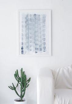 DIY - Abstract art by passionshake.com via homedit.com