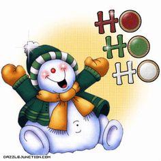 Snowman Clipart | Christmas Ho Ho Ho Snowman Comment Graphic: Picture, Image