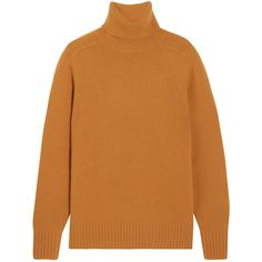 ChloéCashmere Turtleneck Sweater (112.700 RUB) ❤ liked on Polyvore featuring tops, sweaters, saffron, loose fitting sweaters, ribbed sweater, ribbed turtleneck sweater, loose turtleneck sweater and cashmere turtleneck