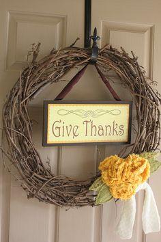 Cute Thanksgiving Wreath!