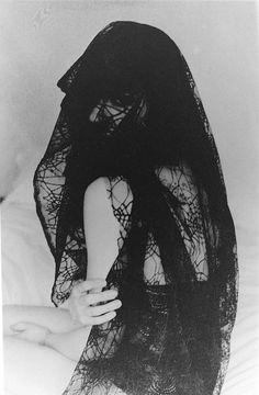 black lace | veiled | fashion | black & white | hidden |