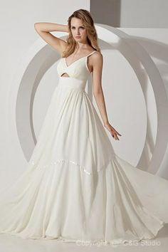 CLICK IMAGE TWICE FOR PRICING AND INFO:) #women #womendresses #eveninggown #cocktaildress #wedding #weddinggown #eveningdresses #prom #debut #partydress #bridesmaid SEE MORE v-neck/v-halter womens dresses at ZBRANDS.COM  Elegant A-line V-neck Floor-length Chiffon Prom Dress SAL1429-G