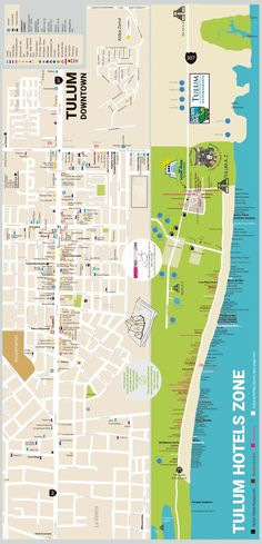 Tulum Tourist Map Tulum Mexico mappery Things to do httpwww