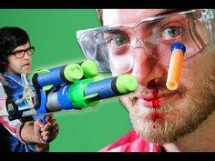 Epic Gun Battle - Rhett & Link ...my stomach hurts from laughing so hard!