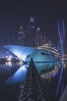 Yacht life.  Dubai. City boats luxury lifestyle.