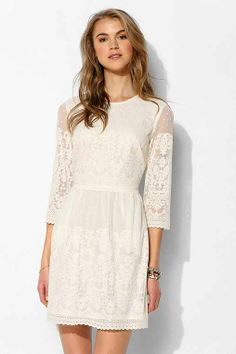 DV By Dolce Vita Val 3/4-Sleeve Lace Shift Dress - Urban Outfitters