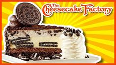 """With more than 250 menu items and more than 50 signature cheesecakes and desserts, there is truly """"Something for everyone"""" at The Cheesecake Factory. Oreo Cheesecake, Menu Items, Food Reviews, Desert Recipes, Cheesecakes, Tiramisu, A Food, Deserts, Eat"""