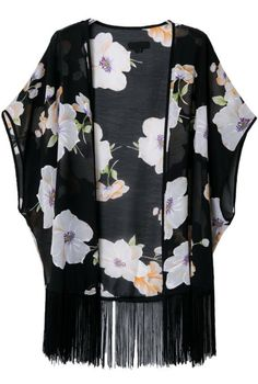 Shop Black Short Sleeve Floral Tassel Loose Kimono online. Sheinside offers Black Short Sleeve Floral Tassel Loose Kimono & more to fit your fashionable needs. Free Shipping Worldwide!