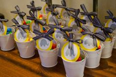 Yellow & Grey Baby Shower / filled with peanut M&Ms