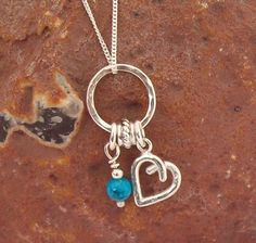 Birthstone Charm Necklace Turquoise  £45.00