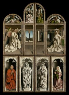 The Ghent Altarpiece Closed. | Lukas