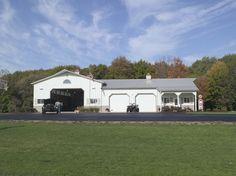 Morton Buildings custom garage in Grand Ledge, Michigan.