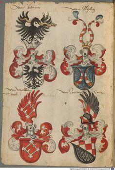 Wappen deutscher Geschlechter Augsburg ?, 4. Viertel 15. Jh. Cod.icon. 311 Folio 87v