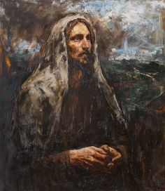 Christ on the mount of Olives 150х130 cm, oil on canvas, 2014 Anatoly Shumkin