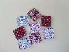Fridge Magnets  Red and Black Mix Refrigerator by DLRjewelry, $12.00