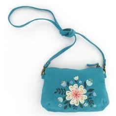 Sacoche bleue fleurie Minilabo