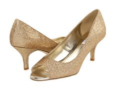Gold Mid Heel Peep Toe Court Shoes | PARA MI | Pinterest | Gold ...