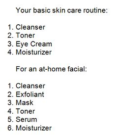 Pin this to remember how to use your skin care products! Or for a last minute skin pick me up when you can't make it to the salon