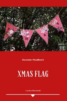 flag - christmas - mixed media Mixed Media, Flag, Christmas, How To Make, Xmas, Navidad, Science, Noel, Natal