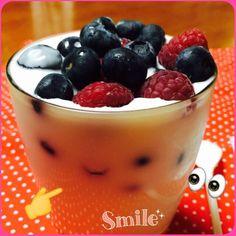 Lush berries and Blueberries  yogurt
