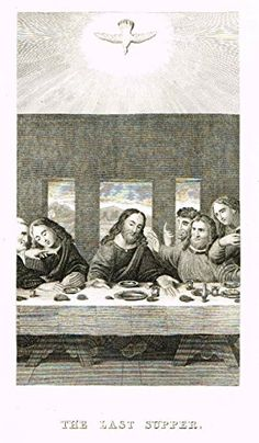 """Burkitt's book """"The Book of Common Prayer"""" from London in Fine copper engravings. Fine copper engraving 195 years old Religious The Book of Common Prayer 8 """" x 5 """" Book Of Common Prayer, Eucharist, Last Supper, New Testament, Prayers, Copper, Books, Prints, Painting"""