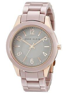 Anne Klein Women's AK/Rose Gold-Tone Watch with Ceramic Link Bracelet Trendy Watches, Elegant Watches, Cool Watches, Watches For Men, Wrist Watches, Michael Kors, Smartwatch, Watch Brands, Luxury Watches