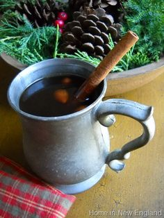 Cider & cinnamon in pewter say Christmas!