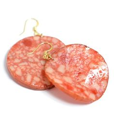 Japanese Faux Food Jewelry by Fake Food Hatanaka Weird Jewelry, Cute Jewelry, Jewelry Accessories, Unique Jewelry, Funky Earrings, Unique Earrings, Drop Earrings, Dou Dou, Accesorios Casual