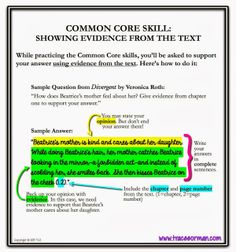 Common Core Skills: How to show evidence from the text. I would have to redo this to emphasize correct MLA parenthetical citation. Teaching Writing, Teaching English, Teaching Resources, Teaching Ideas, Teaching Cursive, Teaching Posters, Teaching Literature, Teaching Activities, Creative Teaching