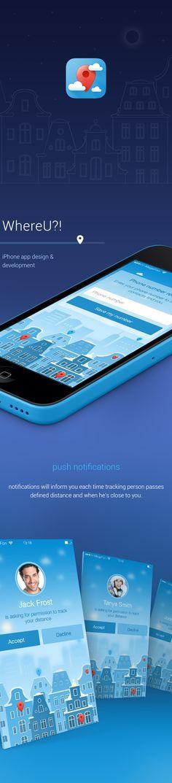 #app #design #inspiration WhereU iPhone app on Behance