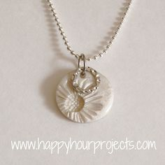 Happy Hour Projects: Sunflower Necklace with Polymer Clay