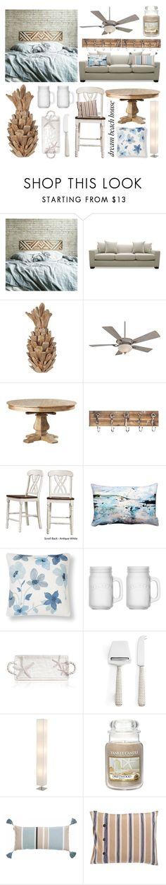 """Beach Shack"" by goingdigi ❤ liked on Polyvore featuring interior, interiors, interior design, home, home decor, interior decorating, South Cone, Minka Aire, Tribecca Home and Seaspray"