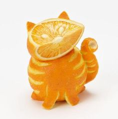 "Orange Tabby Cat ... One of the ""Home Grown Vegetable Figures"" from Enesco"