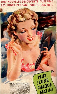 A lovely 1939 ad for Tokalon cream. #vintage #1930s #beauty #ads
